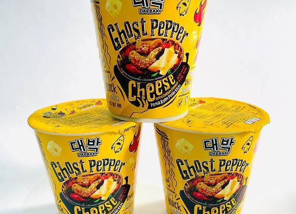 3x Daebak Ghost Pepper Cheese Noodles Tub