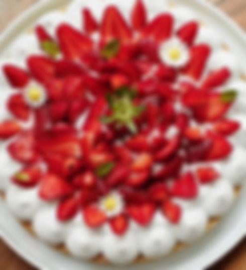 Tarte aux fraises vegan