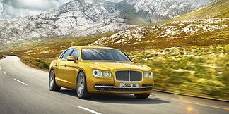 02 flying spur driving dynamically at ro