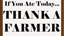 Don't thank a farmer!