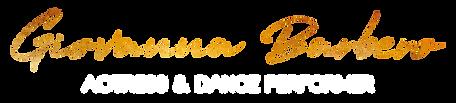 Logo Giovanna Barbero Attrice orizz_Tavo