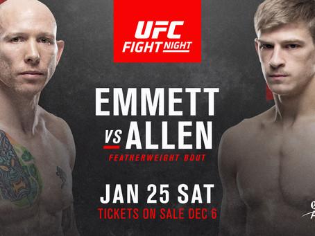 Josh Emmett vs. Arnold Allen added to UFC Raleigh
