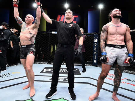 Josh Emmett commands respect after overturning Shane Burgos at UFC Vegas