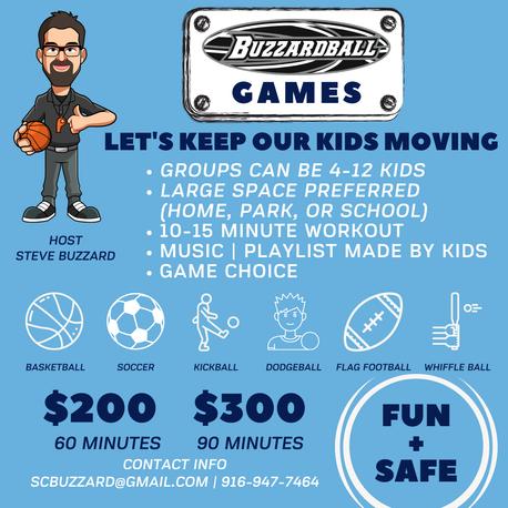 Buzzardball Games!   Looking Ahead -- December + January