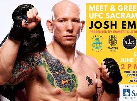 Official Meet & Greet with UFC Sacramento's Josh Emmett