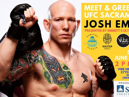 Official Meet & Greet with UFC Sacramento's Josh Emmett