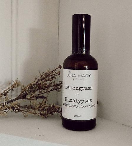 Lemongrass & Eucalyptus Deodorising Spray 100ml