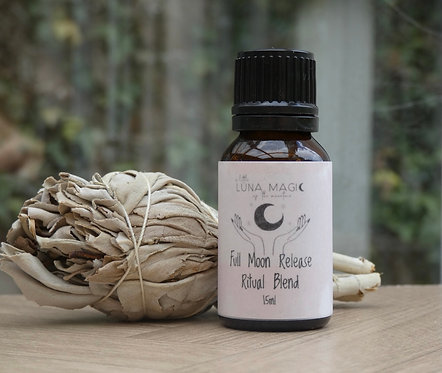 Full Moon Release Diffuser Blend 15ml + white Sage