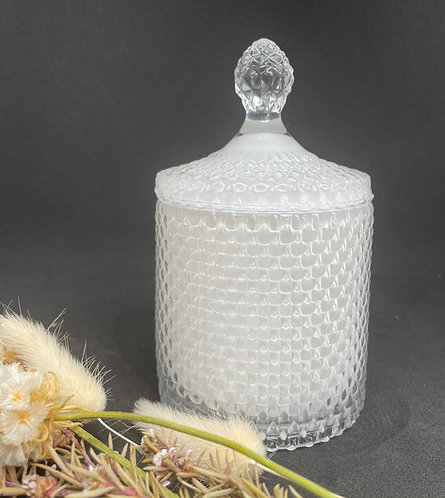 Frosted Tear Drop Soy Candle