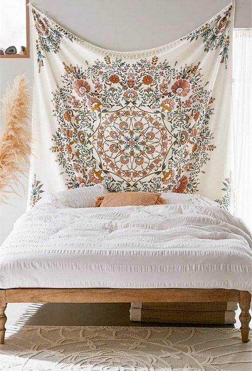 Boho Floral Mandala Wall Hanging