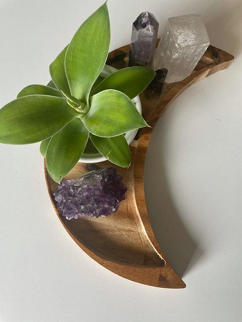 Handmade Wooden Moon Tray