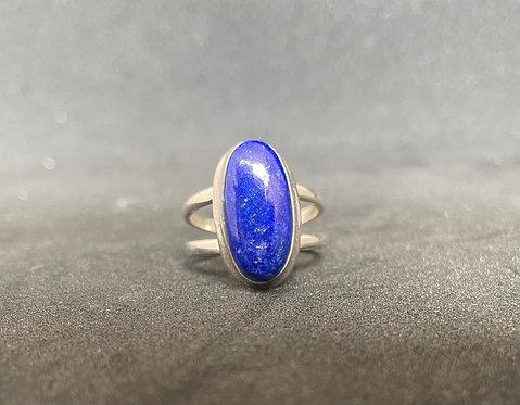 Lapis Lazuli Sterling Silver Ring (8.5)