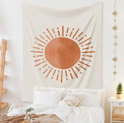 Boho Sun + Moon Wall Tapestry