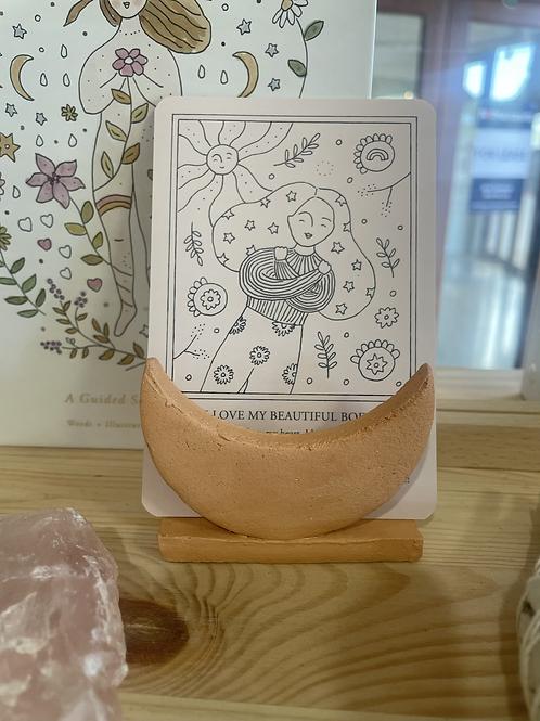 Moon card holder