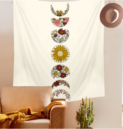 Moon Phase Flower wall Hanging
