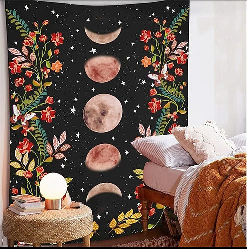 Floral Moon HippieWall Hanging