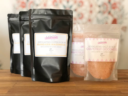 Raw Natural Coffee Body Scrubs