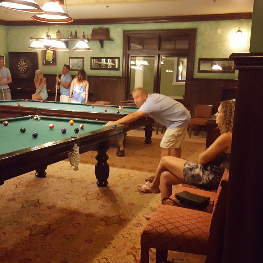 Billiards tables are available in Cricketers Pub