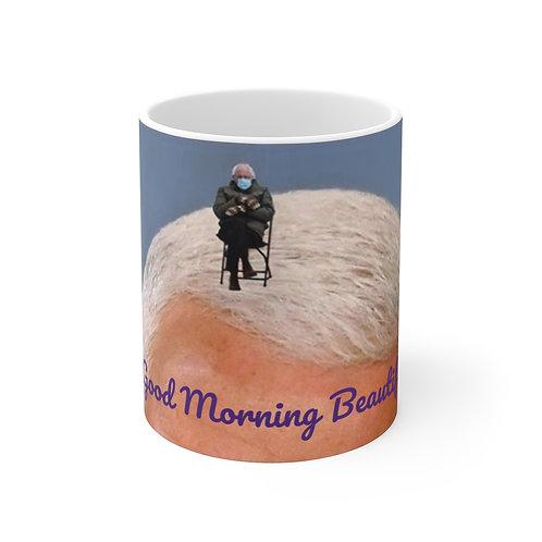 Bernie Meme Morning 11oz White Mug
