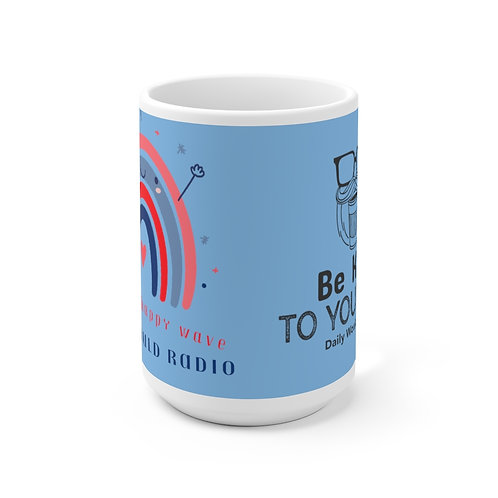 Be Kind Daily Would Radio Ceramic Mug 15oz