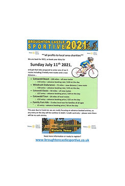 Flyer for Cycling Event