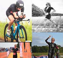 Pictures of Rose competing in triathalon