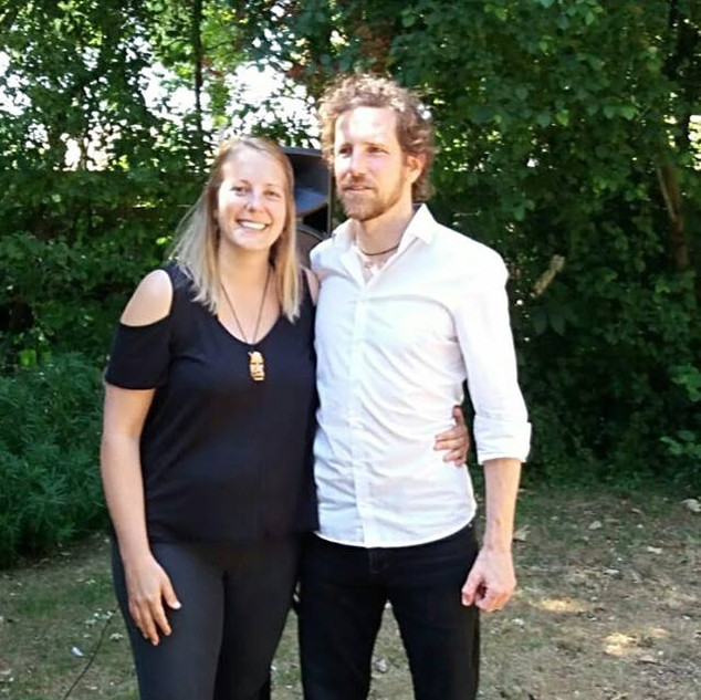 Elisabet Hareza (L) & Aaron English (R)