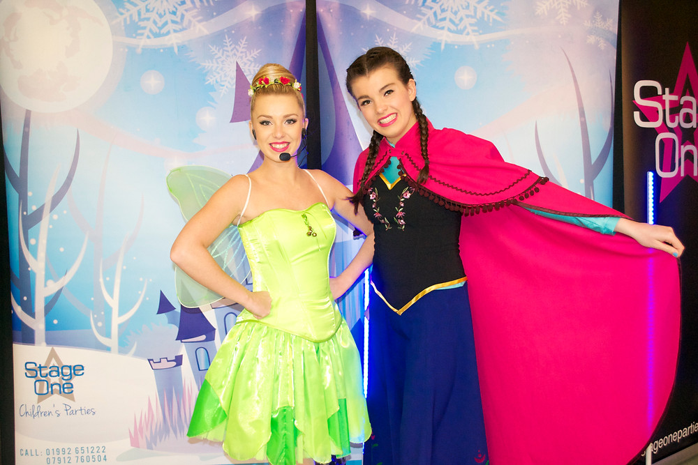 Tinkerbell & Anna at The Charity Party