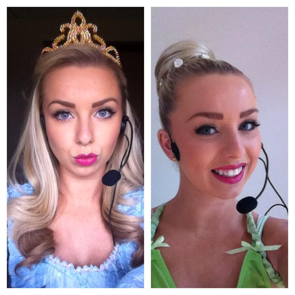 Shelley as Tink & Sleeping Beauty