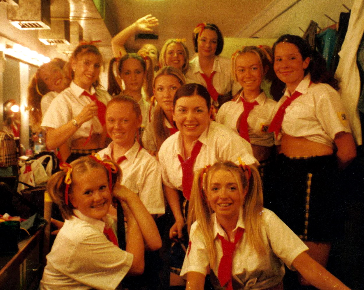 School Days backstage 2000