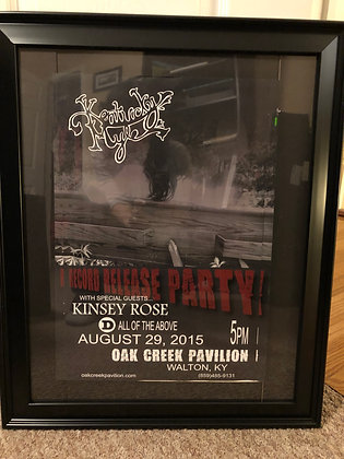 Autographed  Poster Vein of Coal CD Release