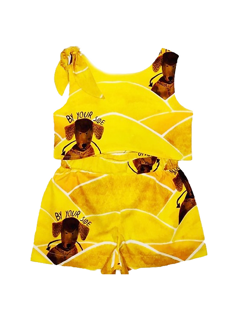 Conjunto de Short Do Amarelo