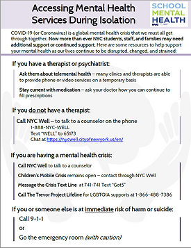 What you should do during the covid-19 virus isolation phase if you need mental health services