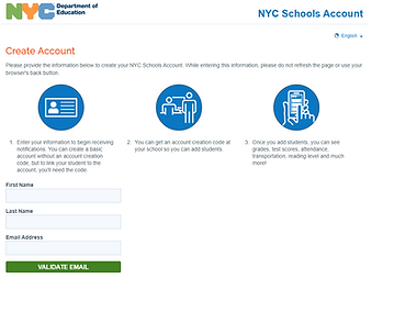 location where students can access their school account