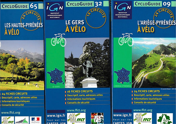 CycloGuides IGN_Ariège_Gers_Hautes-Pyrén