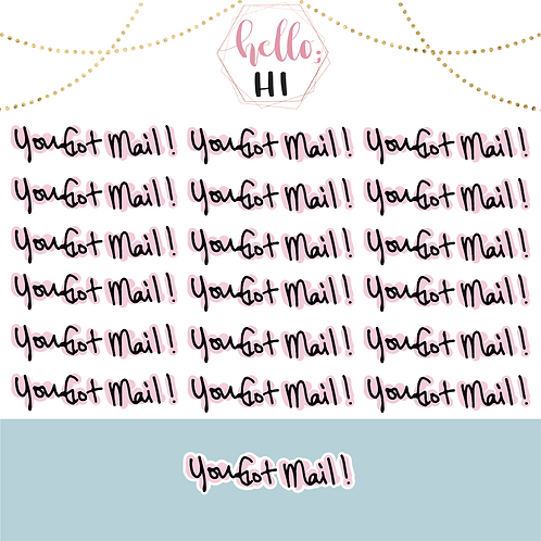 you got mail! sticker sheet