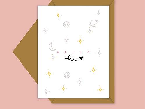 space; galaxy card