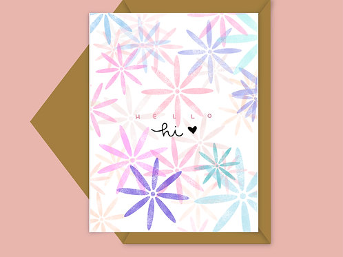 flower patterned card