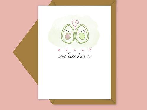 avocado valentine card