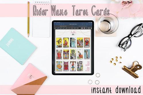Goodnotes - Ride Waite Tarot Card Digital Stickers