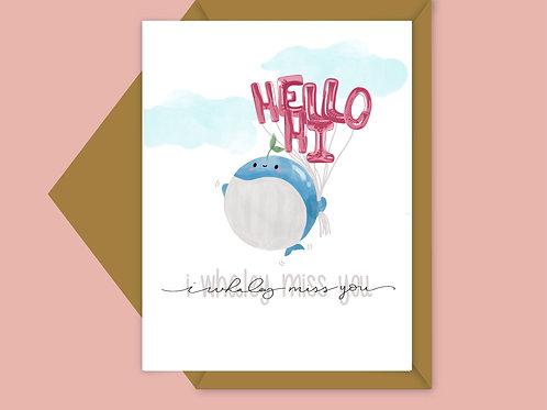 i whaley miss you; valentine card
