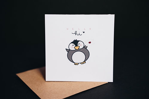 penguin note cards (3 pcs)