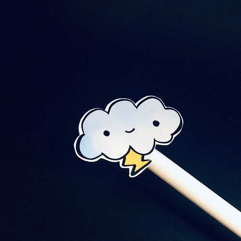 thundy the cloud sticker