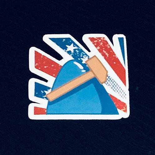 patriot whaley fin sticker