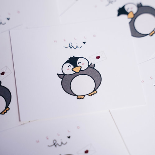 pengu postcard note card (12 pcs)
