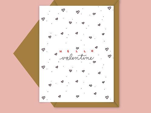 heart pattern valentine card