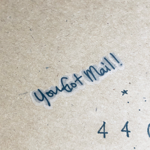 you got mail sticker in gray