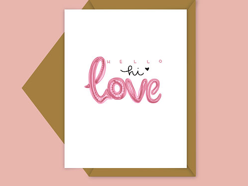 love balloon valentine card