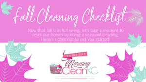 A checklist to clean your home during the fall.