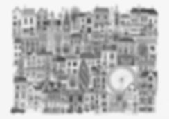 city pencil architecture london amsterdam tall houses detail drawing pencil fine art imagination